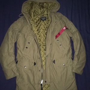 Tan Parka by Alpha Inspected